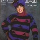 Bernat 1987 Knitting Pattern No.612 Kid Mohair Pullover Sweater Pattern