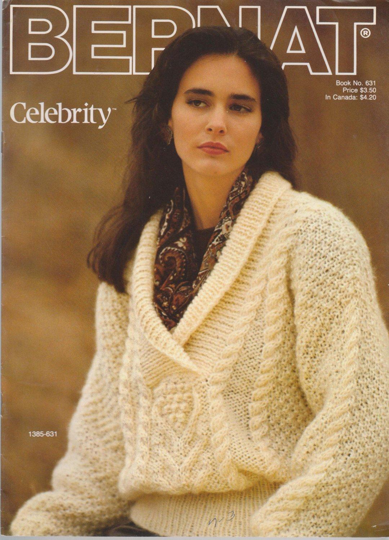 Bernat 1988 Knitting Pattern Booklet Handicrafter No.631 - knit sweater patterns
