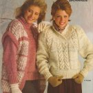 Bernat 1985 Knitting Pattern Booklet #565 Scandia Sweater Patterns