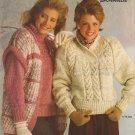 Bernat 1985 Knitting Pattern Booklet #565 Scandia Sweater Patterns