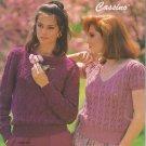 Bernat 1985 Handicrafter No.557 Sweater Knitting Pattern Booklet Cassino