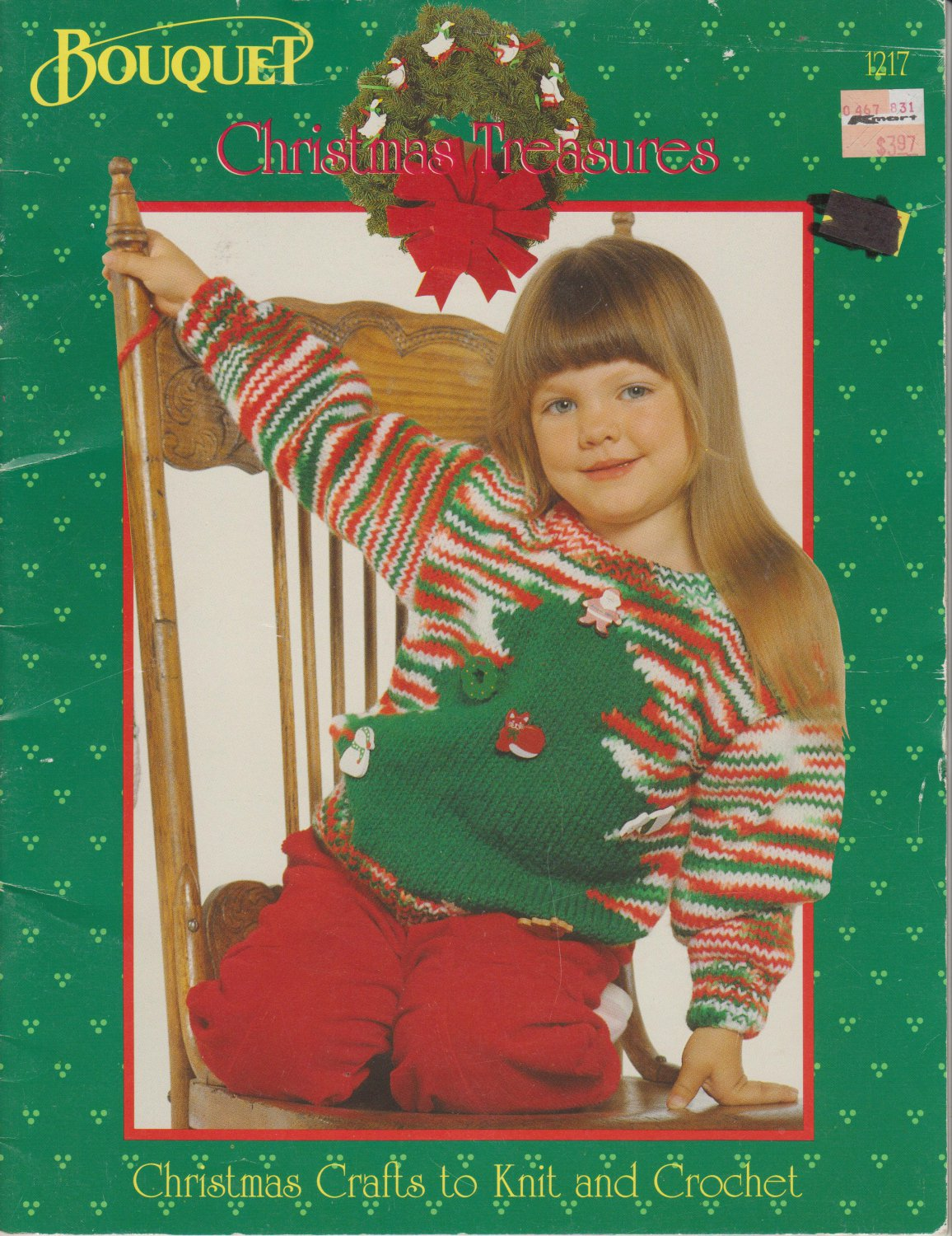 Bouquet Christmas Treasures Patterns #1217 Christmas Crafts to Knit and Crochet