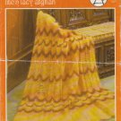 Bouquet Afghan Knitting Pattern Leaflet #360 Princess Clare lite'n lacy afghan