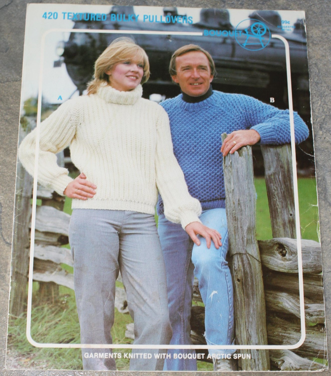 Bouquet Knitting Pattern No.420 Textured Bulky Pullovers