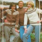 Bouquet Knitting Pattern #419 Bulky Yoked Cardigan and Pullovers
