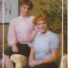 Bouquet Knitting Pattern #497 Quick Knitted Condo Sweaters