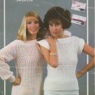 Bouquet Crochet Pattern # 612 Ladies Crocheted Condo Pullover