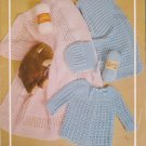 Bouquet Knitting and Crochet Pattern No.449 Carriage Cover and Layette Set