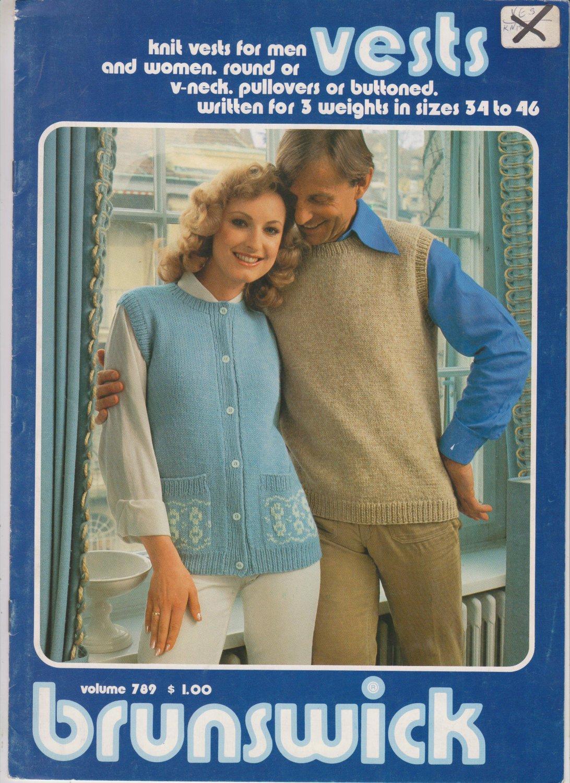 Brunswick Volume 789 Vests 1978 Knitting Pattern