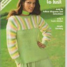 Brunswick Vintage 1979 Knitting Pattern Super Simple Sweaters to Knit Volume 795
