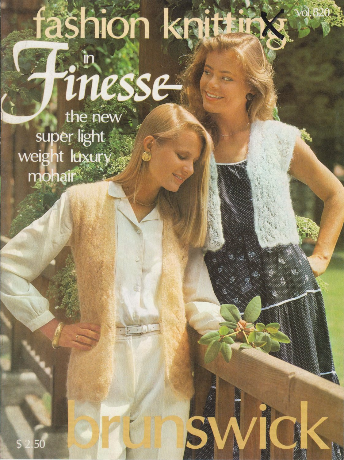 Brunswick Fashion Knitting in Finesse 1982 Pattern Vol.820