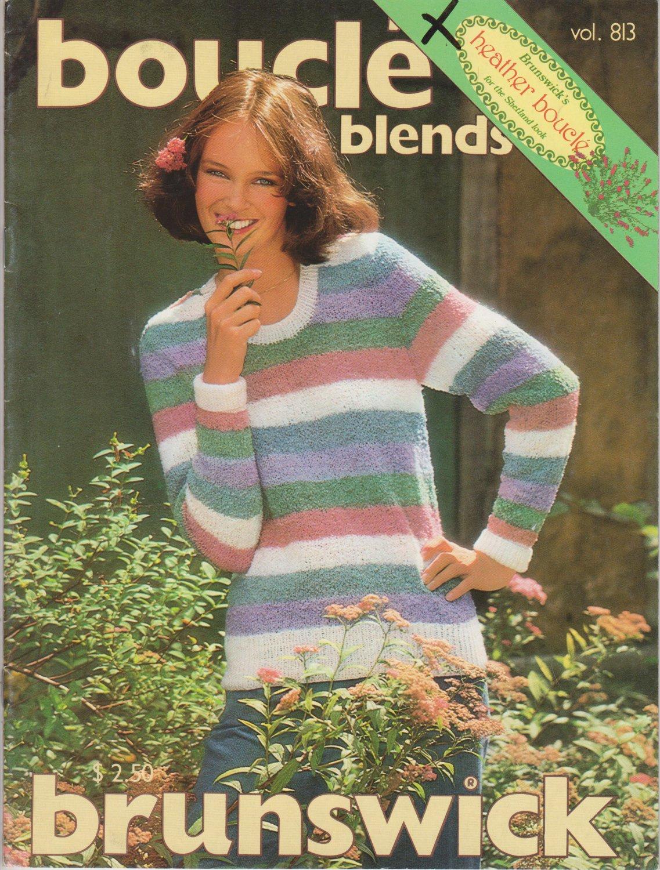 Brunswick Boucle Blends Vol. 813 Knitting & Crochet 1989 Pattern Book
