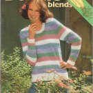 Brunswick Boucle Blends Vol. 813 Knitting & Crochet 1989 Pattern Book