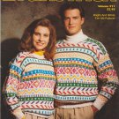 Brunswick 1991 Knitting Pattern Volume 911 Bright and White Fair Isle Pullover