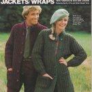 Bucilla 1982 Knitting & Crochet Pattern Booklet Vol.66 Jackets/Wraps