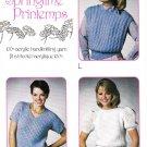 Eaton 1985 Springtime Knitting Pattern 3 Designs