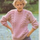 Emu Knitting Pattern Snowball #3702 To Knit Sweater in Seven Sizes