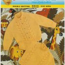 Emu Knitting Pattern #8644 to knit childs cardigan & pullover sweater in 5 sizes