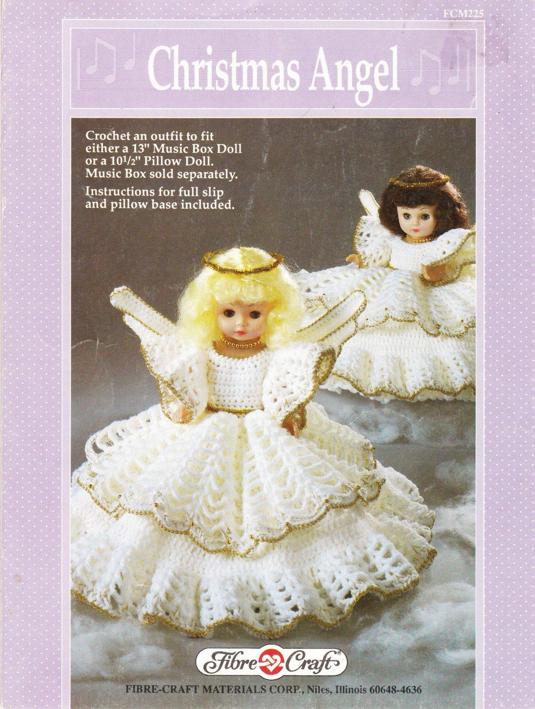 Fibre-Craft 1990 Crochet Pattern #FCM225 Christmas Angel