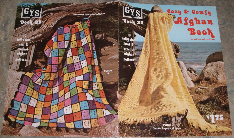GYS Knitting & Crochet Pattern Book #27 Cozy & Comfy Afghan Book