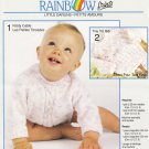 Heritage Rainbow Prints Knitting Pattern #KT810 Little Darlings sweater patterns