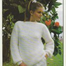 Hayfield Pattern #1859 to knit Ladies Pullover in sizes 28 to 44 Chunky yarn