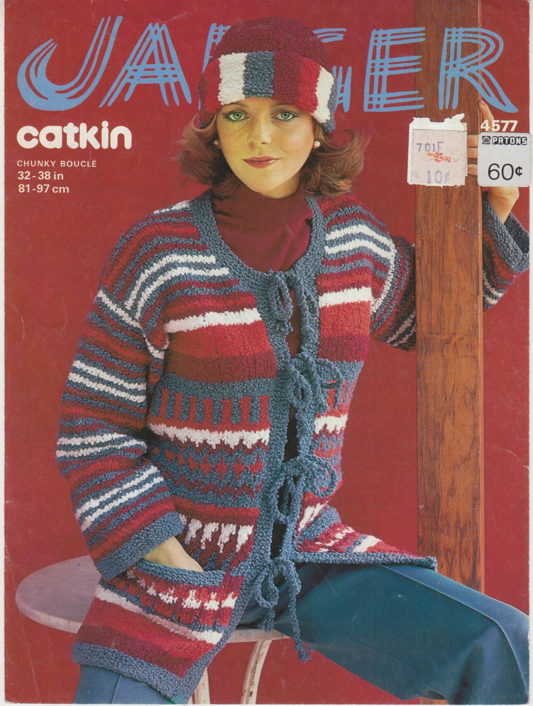 Jaeger 1977 Knitting Pattern #4577