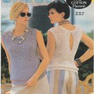 Jaeger 1984 Knitting Pattern #5130 to knit Sleeveless top - plain or slit back