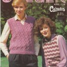 Jaeger 1979 Knitting Pattern #4752 Calvados Cabled & Chevron Patterned Vests
