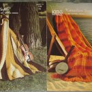 King Patterns 1976 Knitting & Crochet Afghans Leaflet No.118