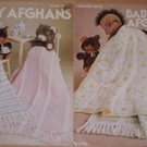 Leisure Arts Pattern Leaflet #64 Baby Afghans to Knit And Crochet