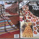Leisure Arts 1980 Pattern Leaflet No.163 Crocheted Scraps to Beauty Afghans