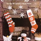 Leisure Arts 1978 Leaflet #129 Christmas Designs To Knit & Crochet