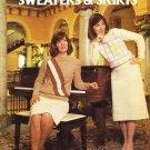Leisure Arts Vintage 1984 Crocheted Sweaters & Skirts Pattern Leaflet #319
