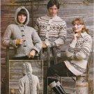 Leisure Arts Vintage 1976 Knitting Pattern Bulky Knits #87