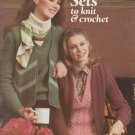 Leisure Arts 1980 Leaflet #164 Sweater Sets to knit & crochet