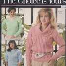 Leisure Arts 1989 Knitting Pattern Leaflet #757 The Choice Is Yours Book 2