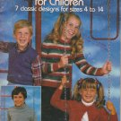 Leisure Arts Leaflet #234 Sweaters & Vests for Children 1982 Knitting Pattern