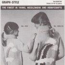 Mary Maxim Knitting Pattern Graph-Style No.4352-53 Rainbow