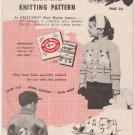 Mary Maxim Graph-Style Knitting Pattern No.478 Mary's Little Lamb