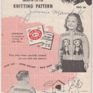 Mary Maxim Knitting Pattern No.468 The Puppies to knit boys or girls cardigan