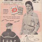 Mary Maxim Graph-Style Vintage 1957 Knitting Pattern No.436 Sailing Time