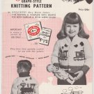 Mary Maxim Vintage 1950s Knitting Pattern No.483 Choo Choo Train for sizes 4 & 6