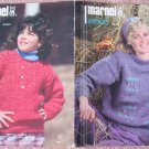 Marnel Knitting Patterns No.M135 to Knit Womens Pullover and Cardigan Sweaters