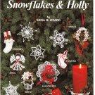Pat Depke-Craft World Inc 1985 Crochet Snowflakes & Holly Leaflet #PD-5531