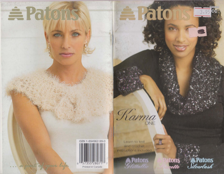 Patons 2005 Knitting & Crochet Pattern Booklet #500830CC Karma One