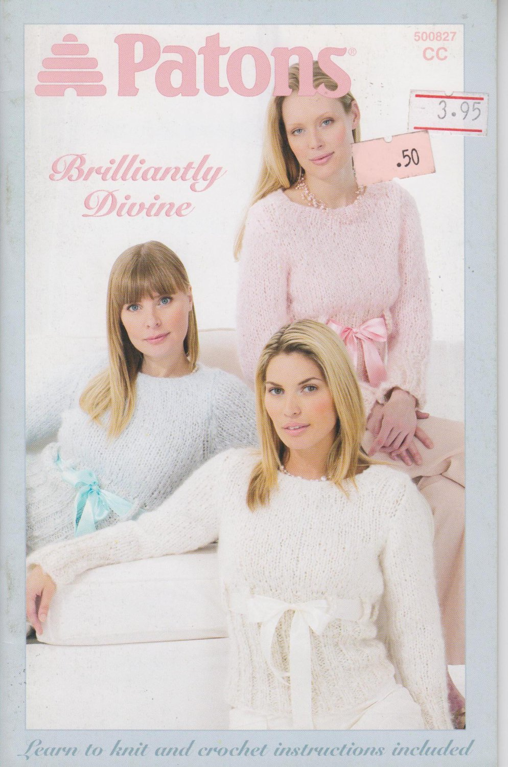 Patons Brilliantly Divine 2005 Knitting & Crochet Pattern Book #500827CC