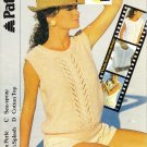 Patons 1986 Knitting Pattern #8296 to knit Lady's Lace Panelled Top