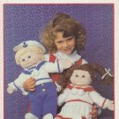 "Patons 1985 Knitting Pattern Ship Ahoy! #1038 Pattern knit to fit 16 "" Doll"