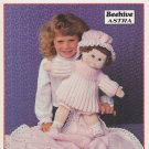 Patons 1985 Knitting Pattern Little Miss Muffet #1040 Pattern for 16 Inch doll